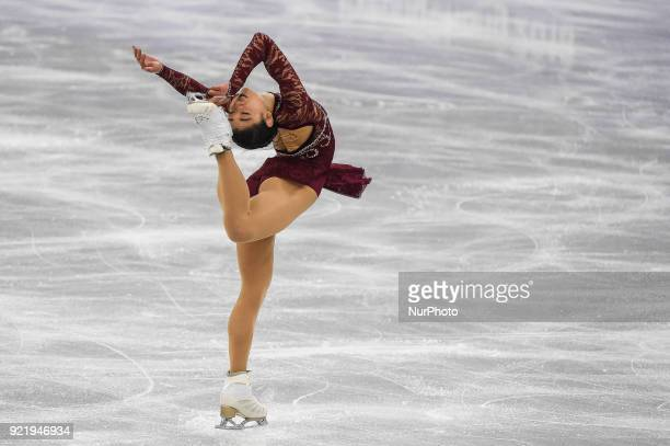 Mirai Nagasu of United States competing in free dance at Gangneung Ice Arena Gangneung South Korea on February 21 2018
