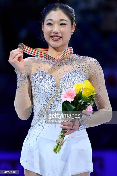 Mirai Nagasu of United States poses after the medals ceremony of the Ladies skating ln ISU Four Continents Figure Skating Championships Gangneung...