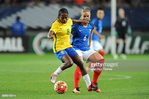 Miraildes MOTA of Brazil and Amandine HENRY of France during the International friendly match between France women and Brazil women on September 16...