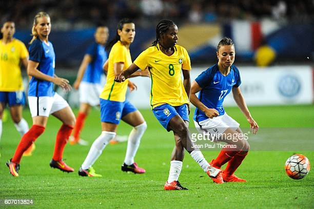Miraildes MOTA of Brazil during the International friendly match between France women and Brazil women on September 16 2016 in Grenoble France