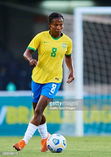 Miraildes Mota of Brazil in action during the Women's International friendly match between Brazil and Russia at Estadio Cartagonova on June 11, 2021...