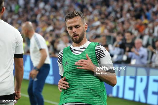 Miralem Pjanic before the Serie A football match between Juventus FC and SSC Napoli at Allianz Stadium on April 22 2018 in Turin Italy Final result 01