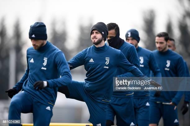 Miralem Pjanic during a Juventus training session at Juventus Center Vinovo on November 28 2017 in Vinovo Italy