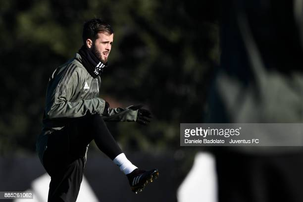 Miralem Pjanic during a Juventus Training Session at Juventus Center Vinovo on December 4 2017 in Vinovo Italy