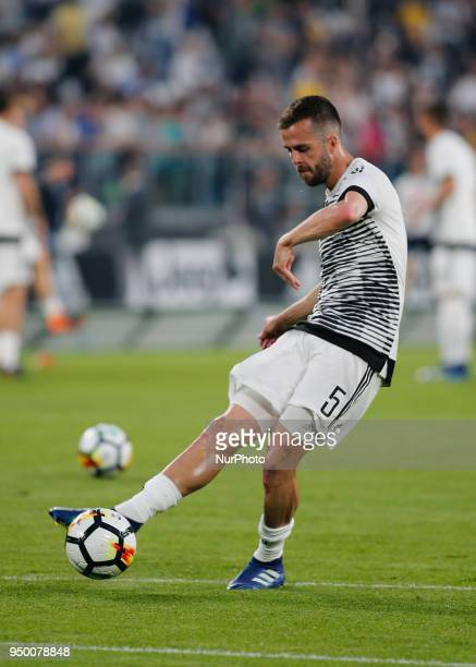 Miralem Pjanic during serie A match between Juventus v Napoli in Turin on April 22 2018