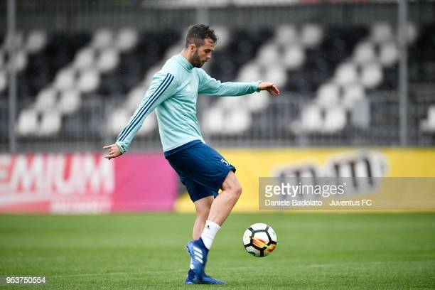 Miralem Pjanic during the Juventus training session at Juventus Center Vinovo on May 2 2018 in Vinovo Italy