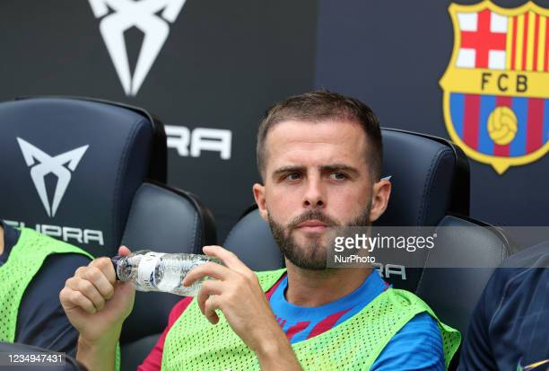 Miralem Pjanic during the match between FC Barcelona and Getafe CF, corresponding to the week 3 of the Liga Santander, played at the Camp Nou...
