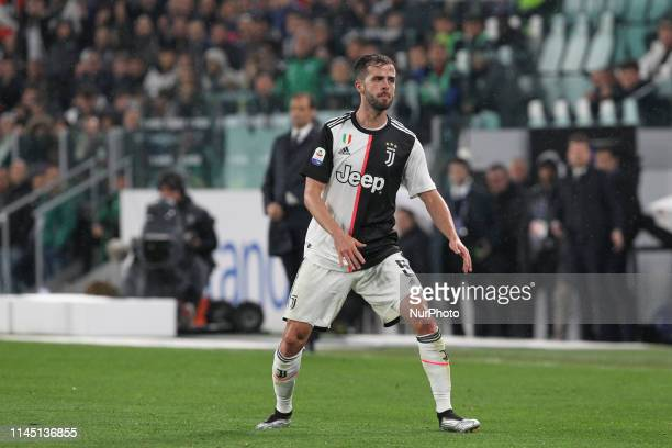 Miralem Pjanic during the Serie A football match between Juventus FC and Atalanta BC at Allianz Stadium on May 19 2019 in Turin Italy