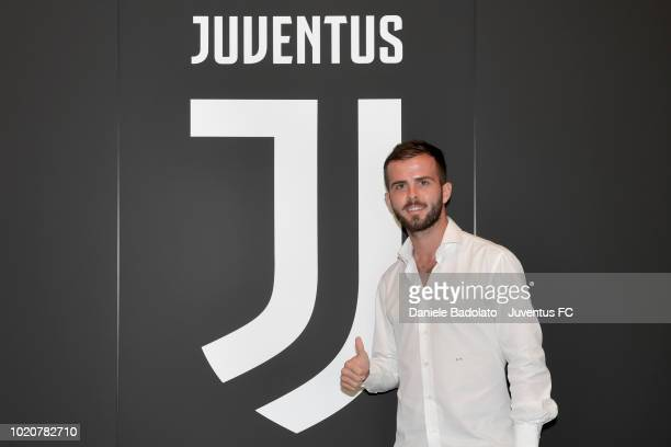 Miralem Pjanic Extends His Contract With Juventus on August 21 2018 in Turin Italy