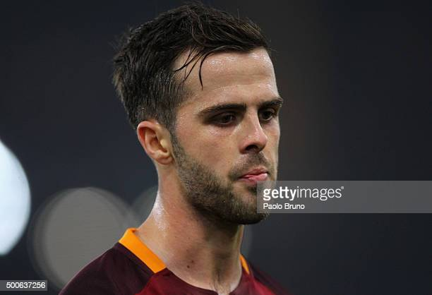 Miralem Pjanic of AS Roma looks on during the UEFA Champions League group E match between AS Roma and FC BATE Borisov on December 9 2015 in Rome Italy