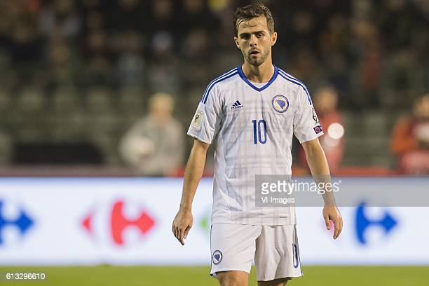 Miralem Pjanic of Bosnia and Herzegovinaduring the FIFA World Cup 2018 qualifying match between Belgium and Bosnie Herzegowina on October 07 2016 at...