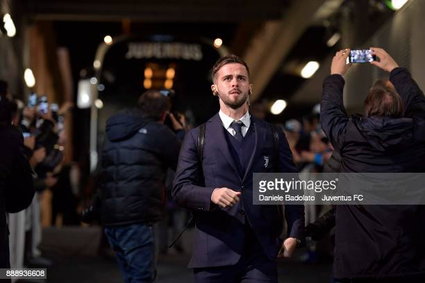 Miralem Pjanic of Juventus arrives at Allianz Stadium before during the Serie A match between Juventus and FC Internazionale on December 9 2017 in...