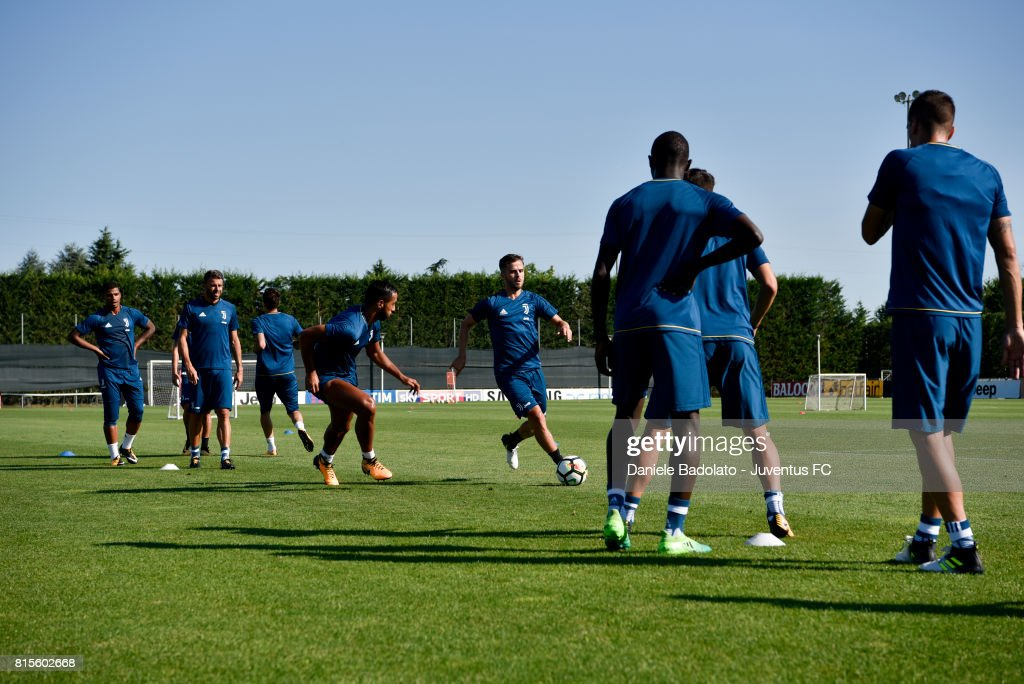 Miralem Pjanic of Juventus during a training session on July 16, 2017 in Vinovo, Italy.