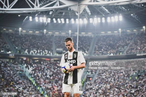 Miralem Pjanic of Juventus during the Serie A match between Juventus and Genoa CFC at Allianz Stadium on October 20 2018 in Turin Italy