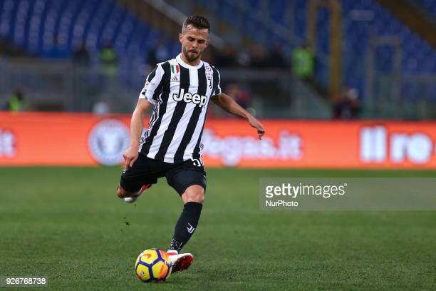 Miralem Pjanic of Juventus during the Serie A match between Lazio and Juventus at Olympic Stadium Roma Italy on 03 March 2018