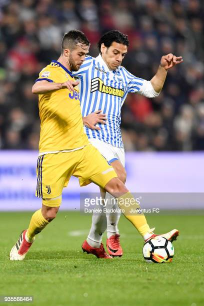 Miralem Pjanic of Juventus during the serie A match between Spal and Juventus at Stadio Paolo Mazza on March 17 2018 in Ferrara Italy
