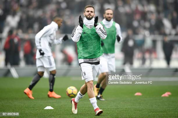 Miralem Pjanic of Juventus during the serie A match between Torino FC and Juventus at Stadio Olimpico di Torino on February 18 2018 in Turin Italy