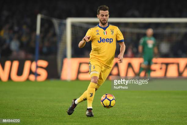 Miralem Pjanic of Juventus during the Serie A TIM match between SSC Napoli and Juventus FC at Stadio San Paolo Naples Italy on 1 December 2017