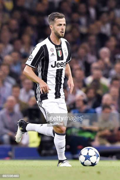 Miralem Pjanic of Juventus during the UEFA Champions League Final match between Real Madrid and Juventus at the National Stadium of Wales Cardiff...