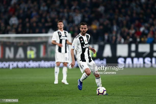 Miralem Pjanic of Juventus FC in action during the Serie A football match between Juventus Fc and Empoli Fc Juventus Fc wins 10 over Empoli Fc