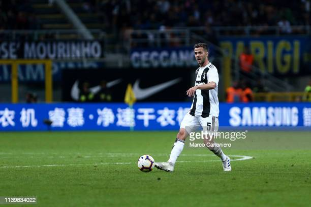 Miralem Pjanic of Juventus FC in action during the Serie A football match between Fc Internazionale and Juventus Fc The match ends in a tie 11