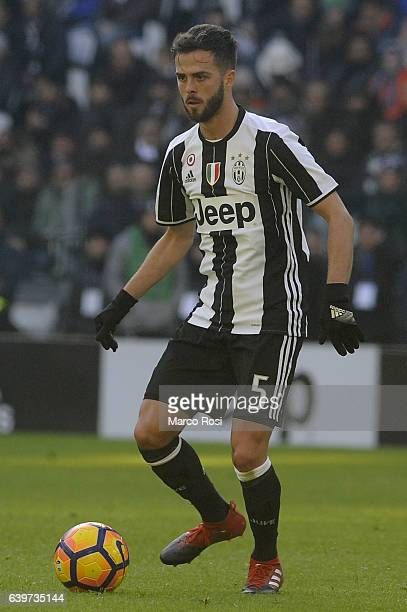 Miralem Pjanic of juventus FC in action during the Serie A match between Juventus FC and SS Lazio at Juventus Stadium on January 22 2017 in Turin...