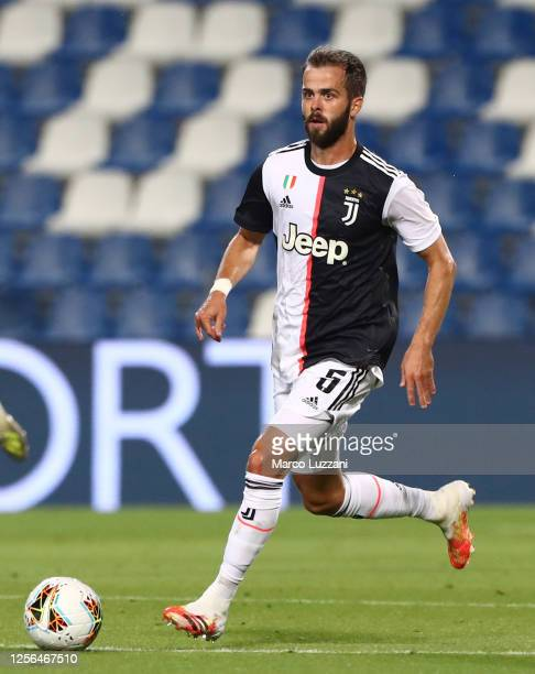 Miralem Pjanic of Juventus FC in action during the Serie A match between US Sassuolo and Juventus at Mapei Sadium - Citta del Tricolore on July 15,...