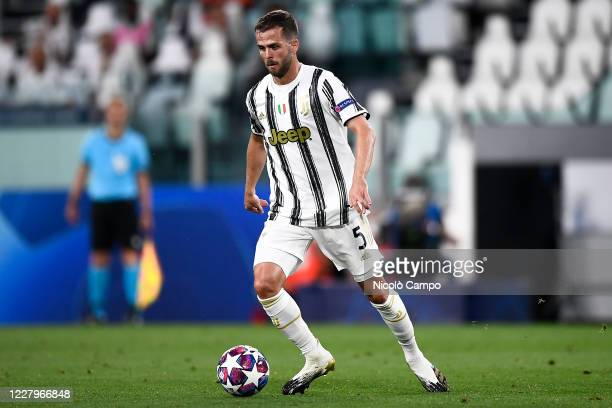 Miralem Pjanic of Juventus FC in action during the UEFA Champions League round of 16 second leg football match between Juventus FC and Olympique...