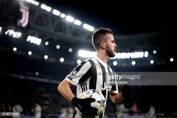 Miralem Pjanic of Juventus FC is pictured during the UEFA Champions League Round of 16 First Leg football match between Juventus FC and Tottenham...