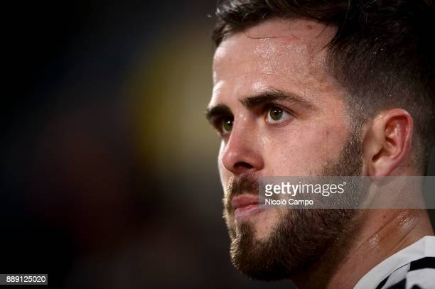 Miralem Pjanic of Juventus FC looks on during the Serie A football match between Juventus FC and FC Internazionale The match ended in a 00 tie