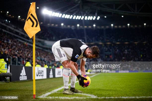 Miralem Pjanic of Juventus FC places the ball for a corner kick during the Serie A football match between Juventus FC and Parma Calcio. Juventus FC...