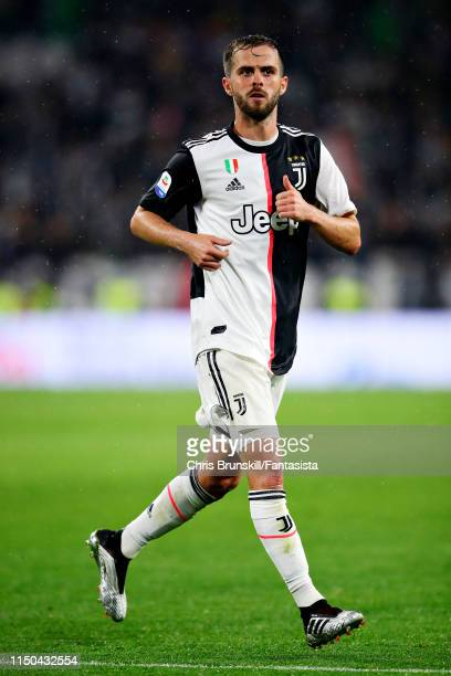 Miralem Pjanic of Juventus in action during the Serie A match between Juventus and Atalanta BC at Allianz Stadium on May 19 2019 in Turin Italy