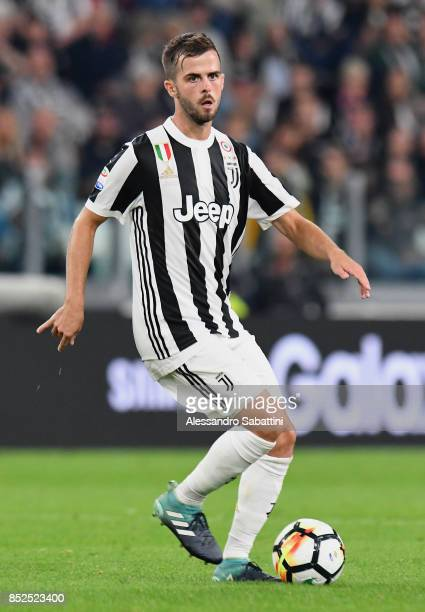Miralem Pjanic of Juventus in action during the Serie A match between Juventus and Torino FC on September 23 2017 in Turin Italy