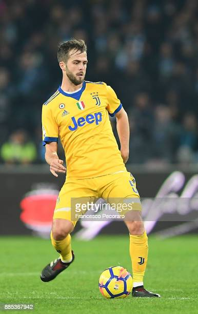 Miralem Pjanic of Juventus in action during the Serie A match between SSC Napoli and Juventus at Stadio San Paolo on December 1 2017 in Naples Italy