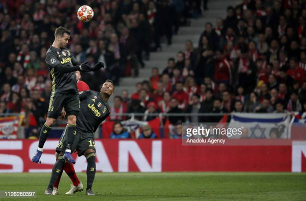 Miralem Pjanic of Juventus in action during UEFA Champions League round of 16 soccer match between Atletico Madrid and Juventus at Wanda...