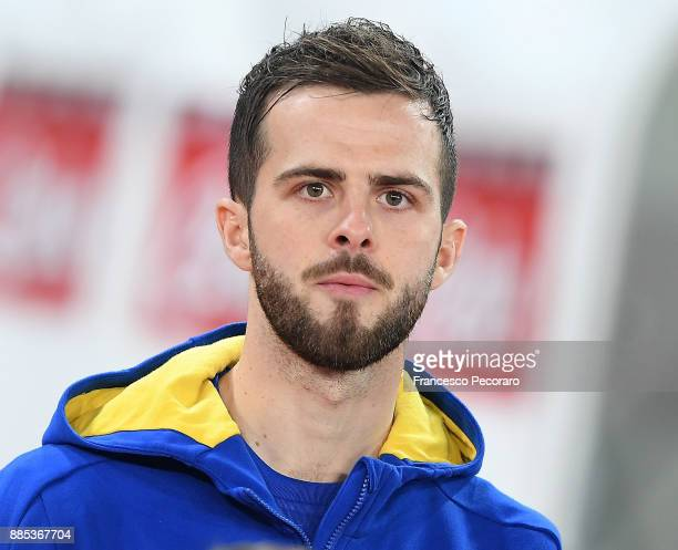 Miralem Pjanic of Juventus looks on before the Serie A match between SSC Napoli and Juventus at Stadio San Paolo on December 1 2017 in Naples Italy