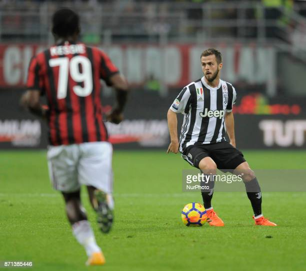 Miralem Pjanic of Juventus player and Franck Kessie of Milan player during the match valid for Italian Football Championships Serie A 20172018...