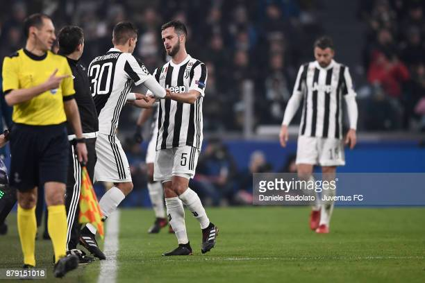 Miralem Pjanic substituted by Rodrigo Bentancur during the UEFA Champions League group D match between Juventus and FC Barcelona at Allianz Stadium...