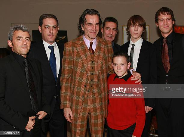 Miramax's Daniel Battsek, Paramount Vantage's John Lesher , actor Daniel Day-Lewis, actor Ciaran Hinds, actor Dillon Freasier, actor Paul Dano and...