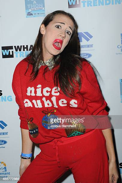 Mirand Sings arrives at The 2nd Annual TubeAThon to benefit Covenant House at YouTube Space LA on December 12 2013 in Los Angeles California