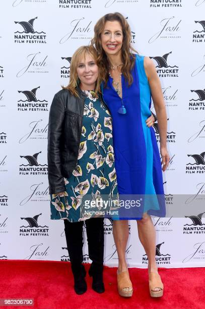 Miranda Bailey and Alysia Reiner attend the Screenwriters Tribute at the 2018 Nantucket Film Festival Day 4 on June 23 2018 in Nantucket Massachusetts