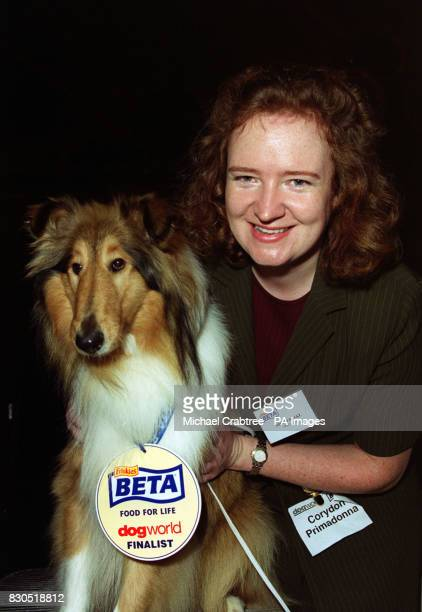 Miranda Blake from Newark with Rough Collie Corydon Primadonna known as Maddie at the BETA/Dog World Pup of the Year at The Whitbread Brewery in...