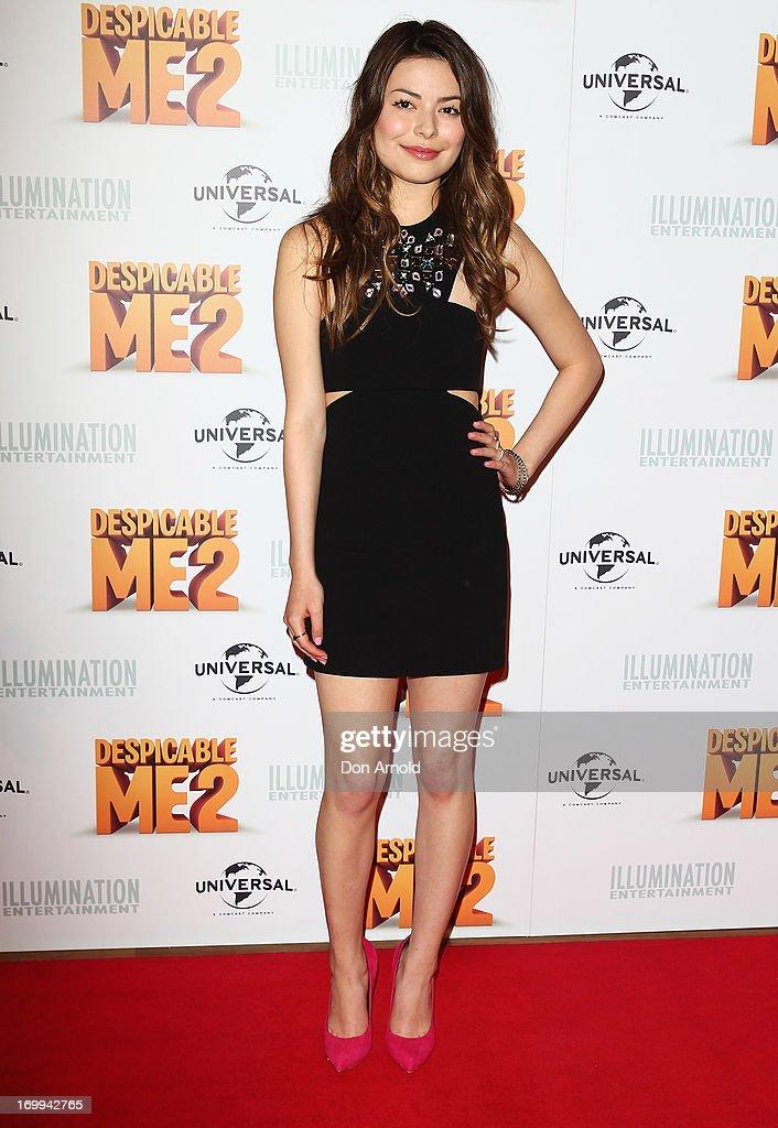 Miranda Cosgrove arrives at the 'Despicable Me 2' Australian premiere at Event Cinemas Bondi Junction on June 5, 2013 in Sydney, Australia.