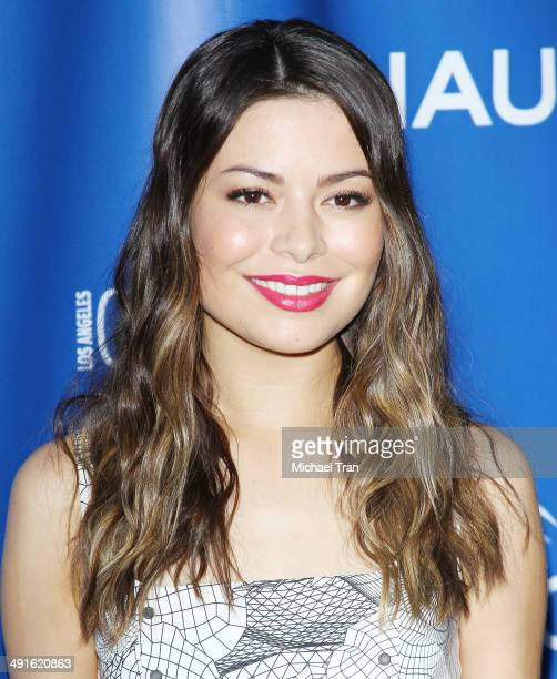 Miranda Cosgrove arrives Nautica and LA Confidential's Oceana Beach house party held at Marion Davies Guest House on May 16 2014 in Santa Monica...