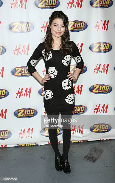 Miranda Cosgrove attends the Z100s Jingle Ball 2009 presented by HM at Madison Square Garden on December 11 2009 in New York City
