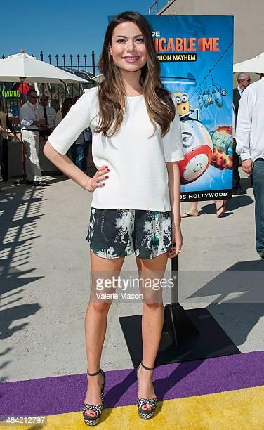 Miranda Cosgrove attends Universal Studios Hollywood Celebrates The Premiere Of New 3D Ultra HD digital Animation Adventure Despicable Me Minion...