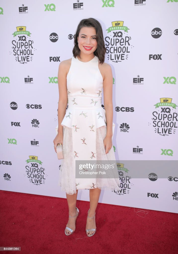 Miranda Cosgrove attends XQ Super School Live, presented by EIF, at Barker Hangar on September 8, 2017 in Santa California.