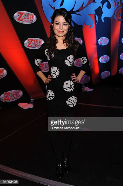 *EXCLUSIVE* Miranda Cosgrove attends Z100's Jingle Ball 2009 presented by HM at Madison Square Garden on December 11 2009 in New York City