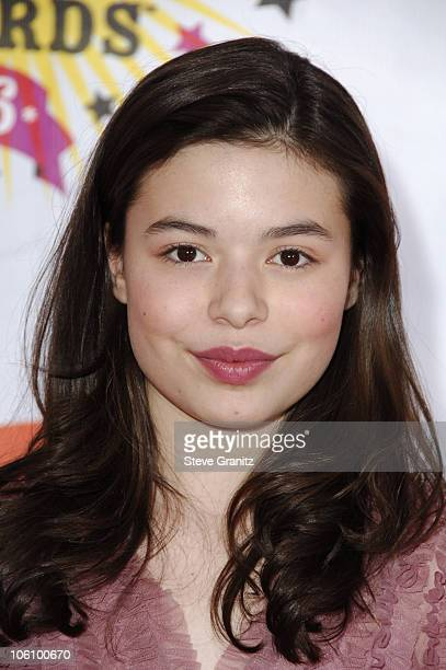 Miranda Cosgrove during Nickelodeon's 19th Annual Kids' Choice Awards Arrivals at Pauley Pavilion in Westwood California United States
