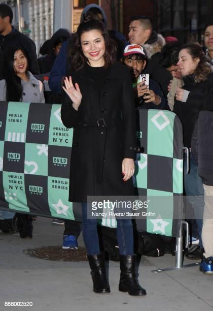 Miranda Cosgrove is seen on December 07 2017 in New York City